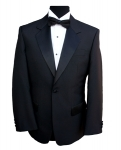 1 Button Single Breasted Black Dinner Jacket