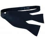 Luxury 100% Black Silk Self Tie Bow Tie