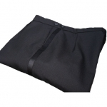 Poly Wool Black Dress Trousers