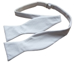 100% Cotton White Marcella Self-Tie Bow Tie